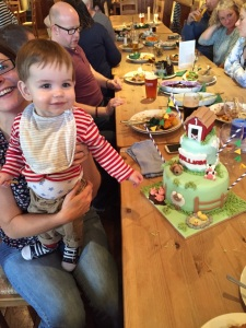William and his 1st birthday cake x