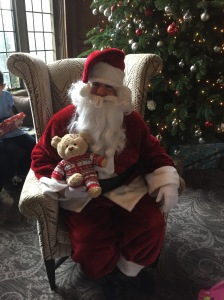 Sitting on Santa's knee for the first time